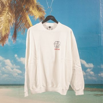 Polar Skate Co. - Two Sided Crewneck - White