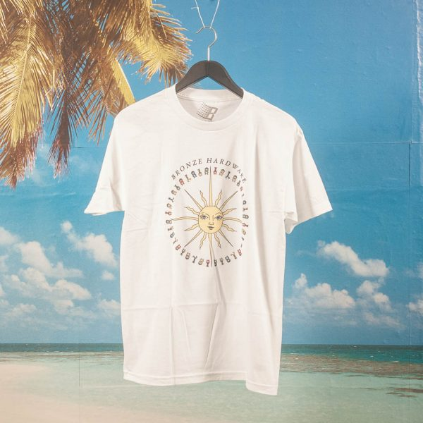 Bronze 56k - Peace Love And Hardware T-Shirt - White