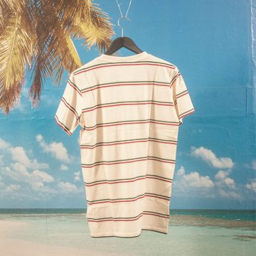 Post Details - Classic Striped T-Shirt - Off White
