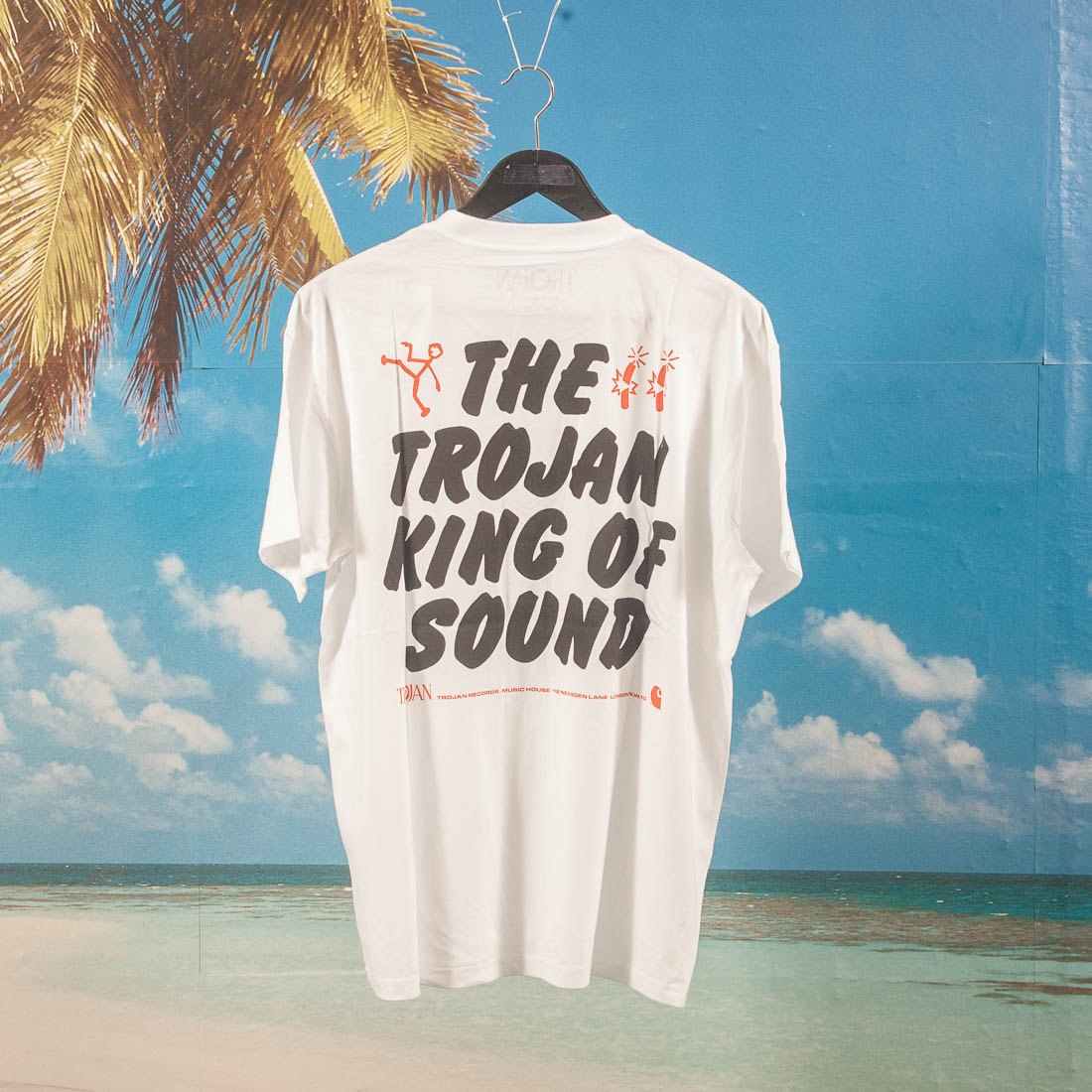 "Carhartt WIP - Trojan ""King Of Sound"" T-Shirt - White"