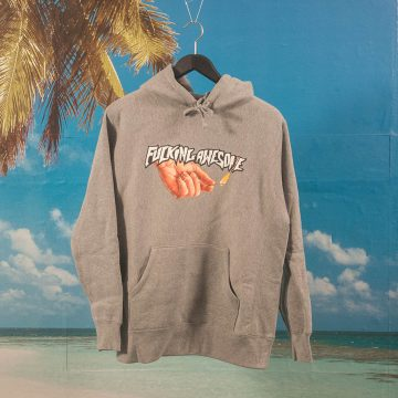 Fucking Awesome - Pyro Hoodie - Heather Grey
