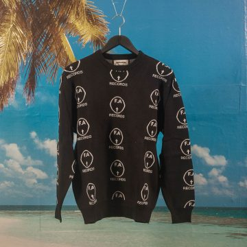 Fucking Awesome - FA Records Sweater - Black / White