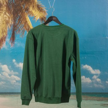 Quartersnacks - Mountain Logo Microfleece Crewneck - Hunter Green