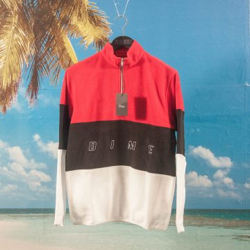 Dime MTL - 3 Tone Fleece Pullover - Red