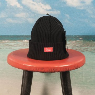 Dime MTL - Ribbed Cashmere Beanie - Black