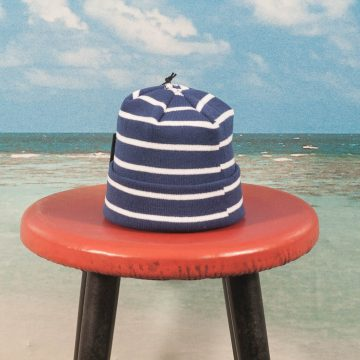 Dime MTL - Striped Beanie - Blue