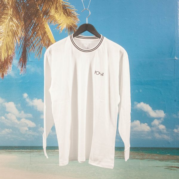 Polar Skate Co. - Striped Rib Longsleeve - White / Black