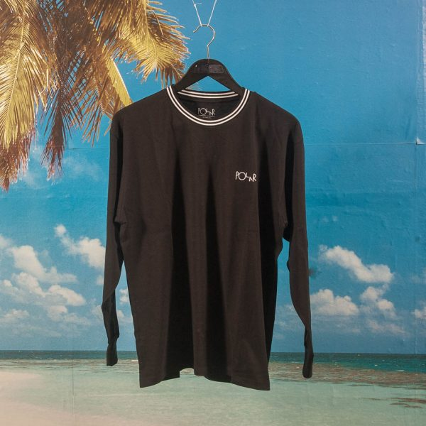 0848d95a26 Polar Skate Co. - Striped Rib Longsleeve - Black / White at SooHotRightNow  Onlineshop - SHRN Skateshop München