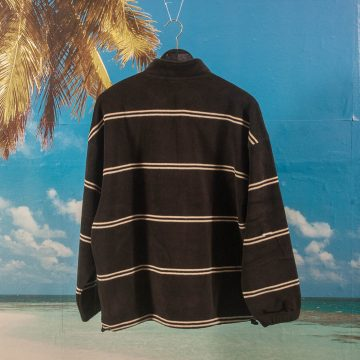 Polar Skate Co. - Striped Fleece Pullover - Black