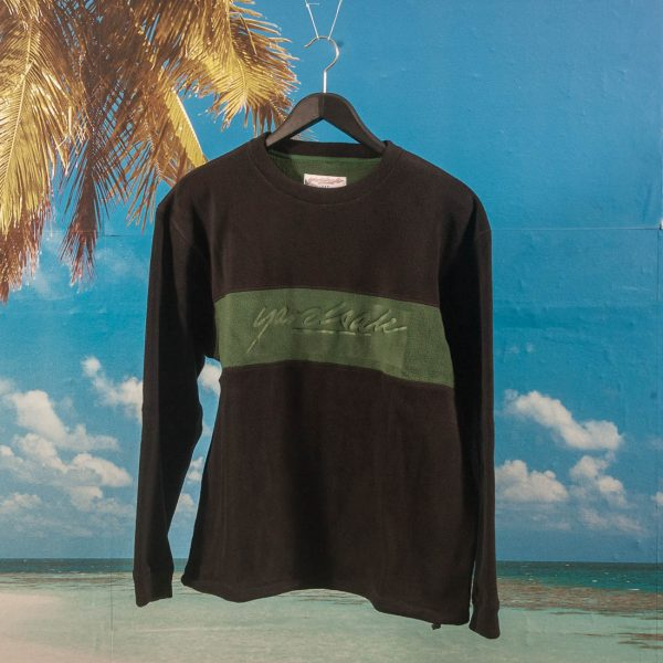 Yardsale - Embossed Fleece Crewneck - Black / Green