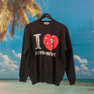 Fucking Awesome - I Heart FA Knitted Sweater - Black