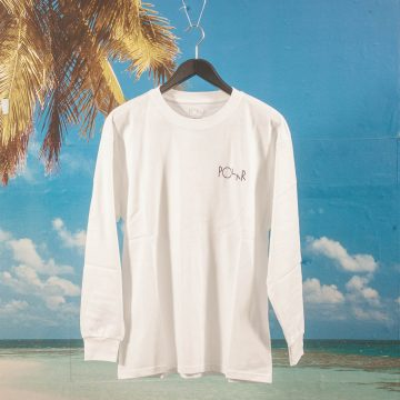 Polar Skate Co. - 69 Fill Logo Longsleeve - White