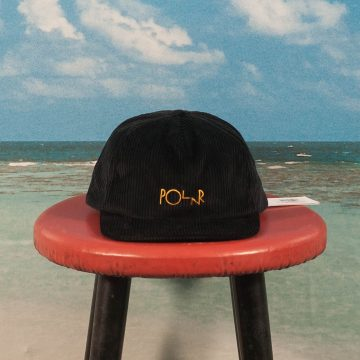 Polar Skate Co. - Cord 5 Panel Cap - Black