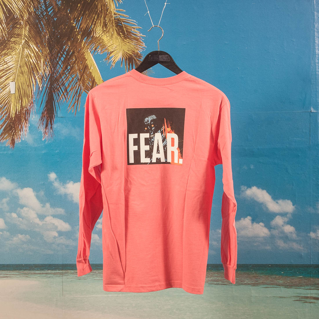 Fucking Awesome - Fear Longsleeve T-Shirt - Coral