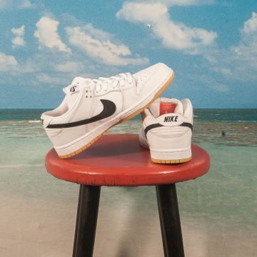 "Nike SB - Dunk Low Pro ""Orange Label"" - White / Black White Gum - Light Brown"