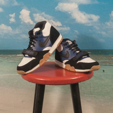 Nike SB X Polar Skate Co. - Air Trainer 1 QS - Black / Black - Deep Royal Blue