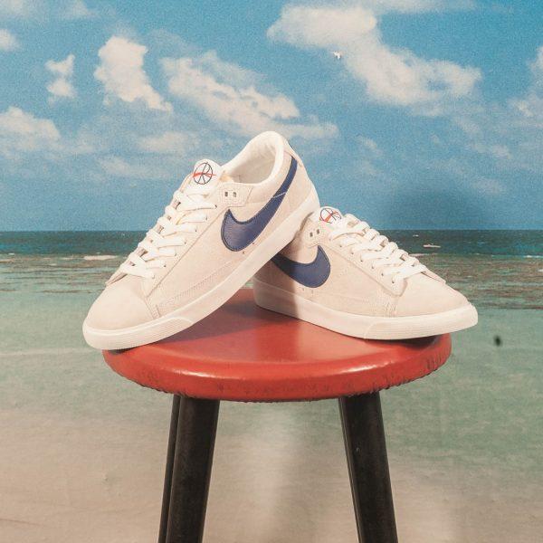 Nike SB X Polar Skate Co. - Blazer Zoom Low GT QS - Summit White / Deep  Royal Blue