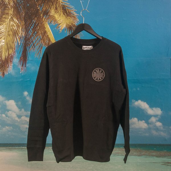 Fucking Awesome - Spiral French Terry Crewneck - Black