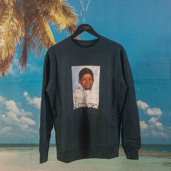 Fucking Awesome - Louie Lopez Class Photo Crewneck - Navy
