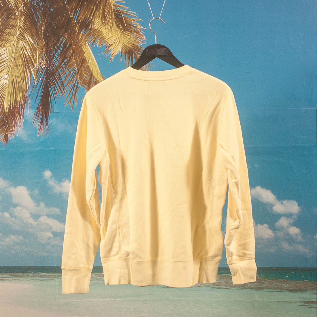 Fucking Awesome - Spiral French Terry Crewneck - Light Yellow