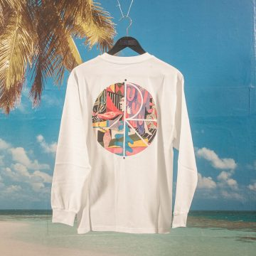 Polar Skate Co. - TK Fill Logo Longsleeve - White