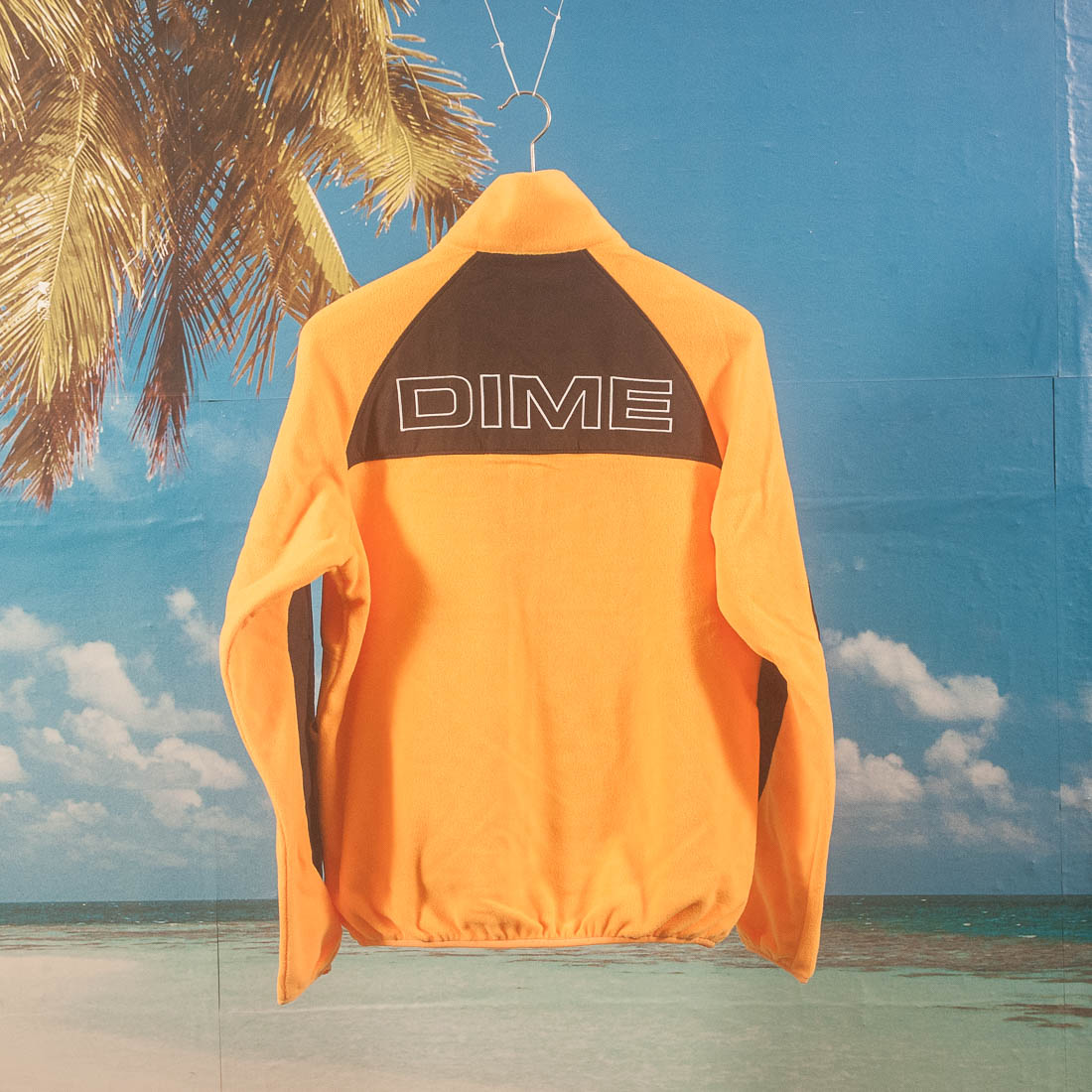 Dime MTL - Polar Fleece Track Jacket - Gold / Black