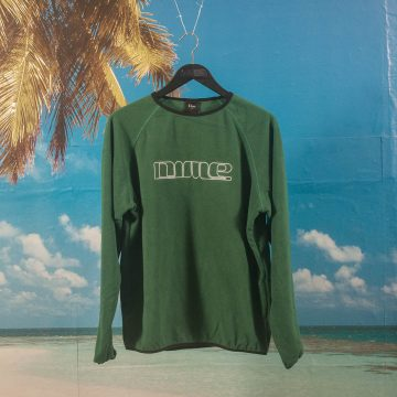 Dime MTL - Raglan Polar Fleece Crewneck - Forest Green