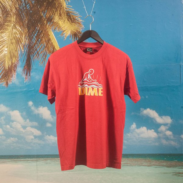 Dime MTL - Relief T-Shirt - Dark Red