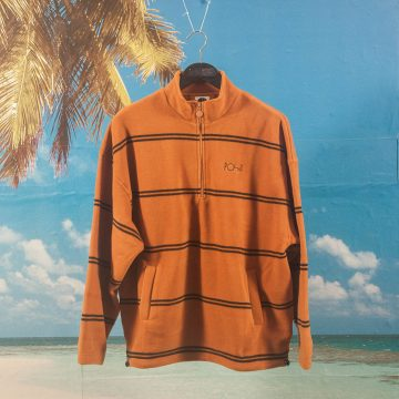 Polar Skate Co. - Striped Fleece Pullover 2.0 - Caramel