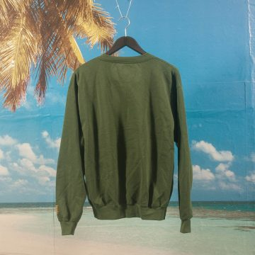 "SHRN - Mona Sardari ""Ghosts"" Crewneck - Forest Green"