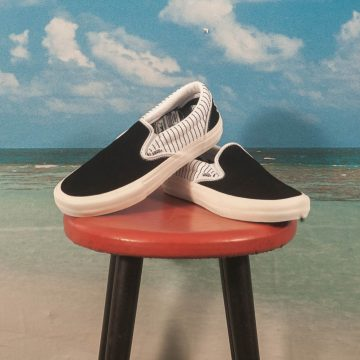 "Vans - Slip On Pro ""Peels"" - Black / True White"