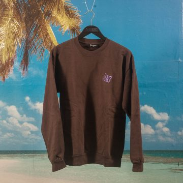 Bronze 56k - Embroidered B Logo Crewneck - Chocolate