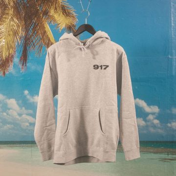 Call Me (917) - Bad Baby Hoodie - Heather Grey