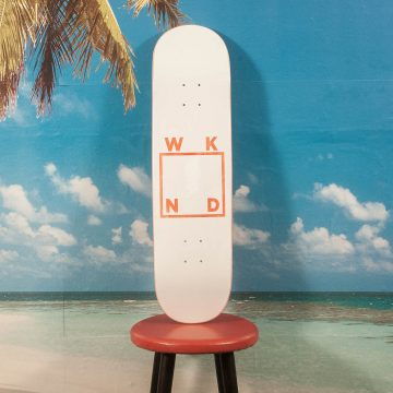 WKND Skateboards - Black Logo Deck - 8.25