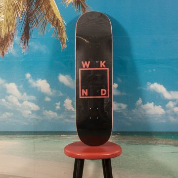 WKND Skateboards - Black Logo Deck - 8.5