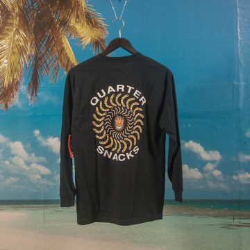 Quartersnacks X Spitfire Wheels - Classic Longsleeve T-Shirt - Navy