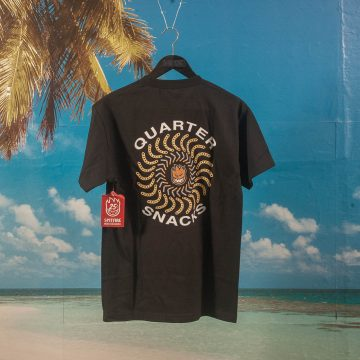 Quartersnacks X Spitfire Wheels - Classic T-Shirt - Black