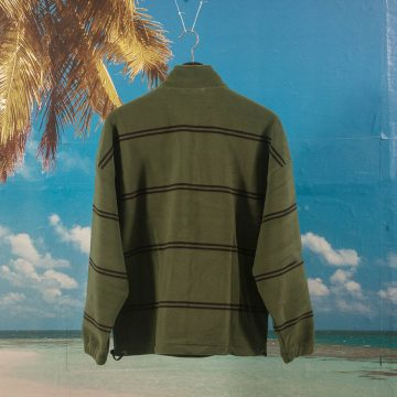 Polar Skate Co. - Striped Fleece Pullover 2.0 - Olive