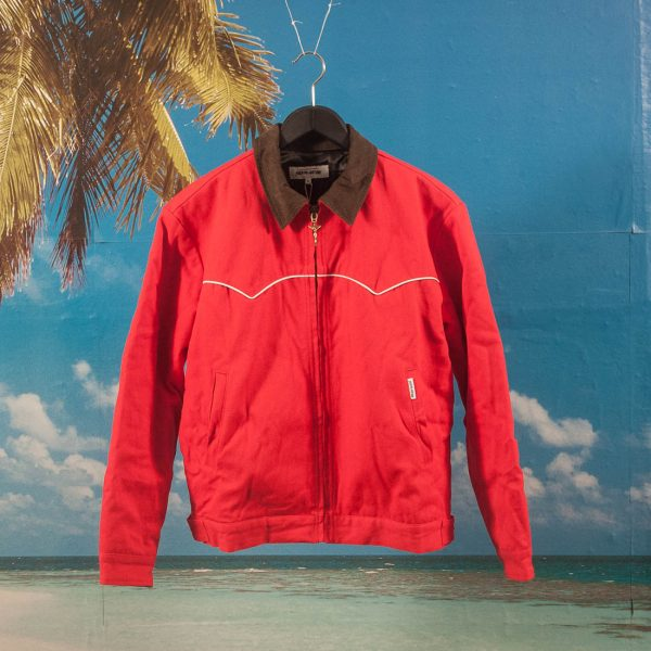 Fucking Awesome - Western Canvas Jacket ( Cut & Sew ) - Cigarette Red