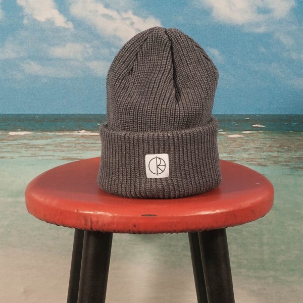 Polar Skate Co. - Double Fold Merino Beanie - Heather Grey