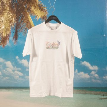 Skateboard Cafe - Flower Bed T-Shirt - White