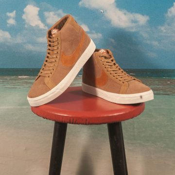 "Nike SB - Blazer Mid Zoom ""Oski"" Orange Label - Muted Bronze / Burnt Sienna - Sail"