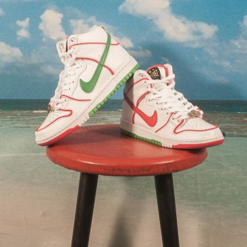 "Nike SB - Dunk High Premium ""Paul Rodriguez"" - White / University Red - White - Classic Green"