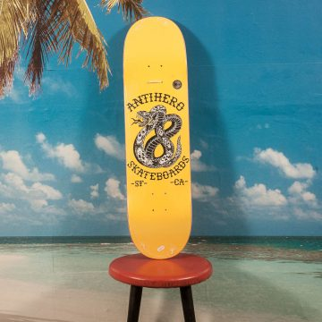 Antihero Skateboards - Team Eighteen Yellow Deck - 8.25