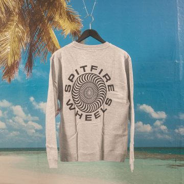 Spitfire Wheels - Classic 87 Swirl Crewneck - Grey Heather