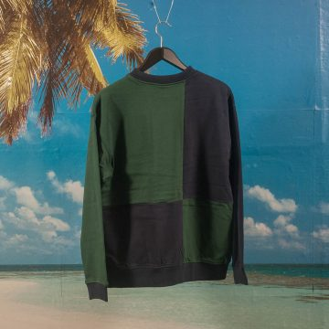 Dime MTL - Block Terry Crewneck - Navy / Green