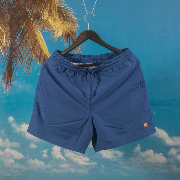 Carhartt WIP - Chase Swim Trunk - Submarine / Gold