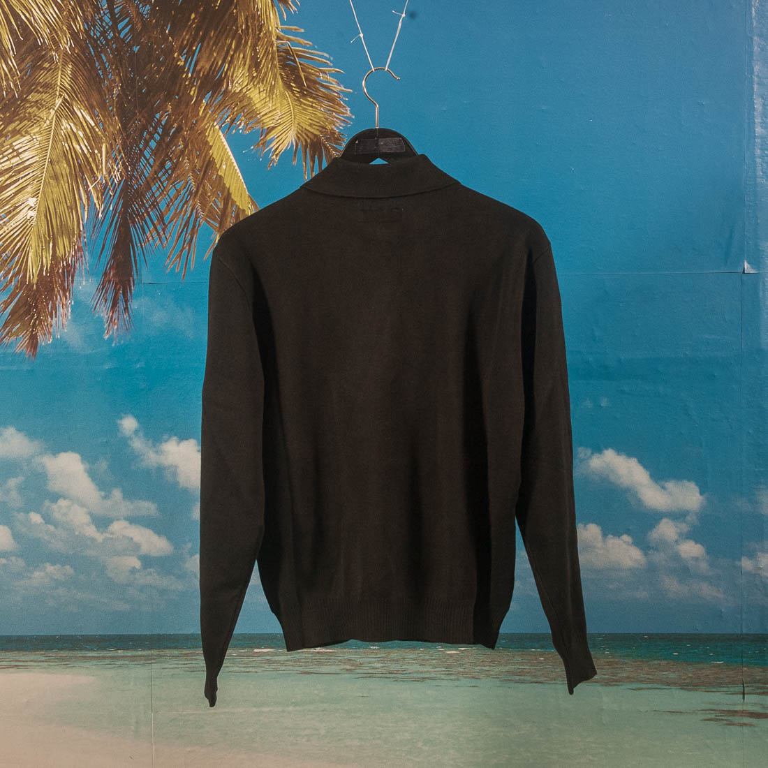 Fucking Awesome - Polo Sweater (Cut & Sew) - Black