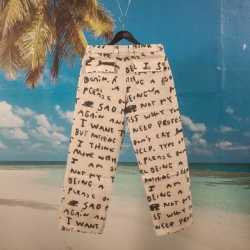 "Polar Skate Co. - 40´s Pants ""Sad Notes"" - Ivory"