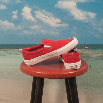 Vans - Slip On Pro - Red / White
